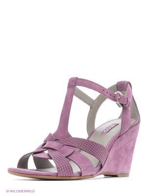 Туфли летние ремешковые ECCO. Цвет: сиреневый