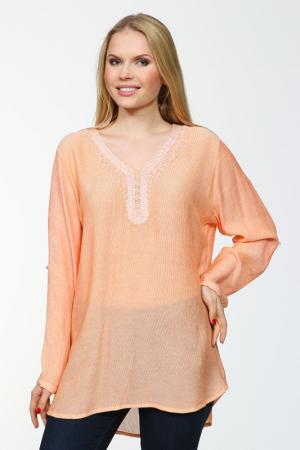 Блузка Grandi. Цвет: оранжевый