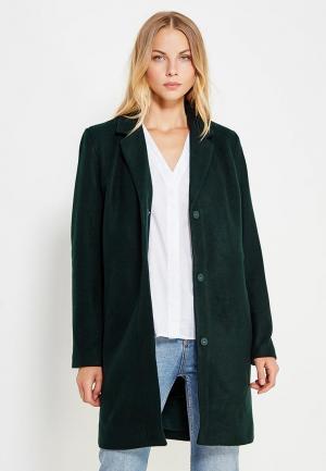 Пальто Vila. Цвет: зеленый