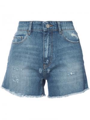 Джинсовые шорты с завышенной талией Anine Bing. Цвет: синий