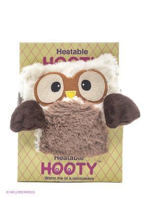 Совенок-грелка Hooty Warmies. Цвет: коричневый, кремовый