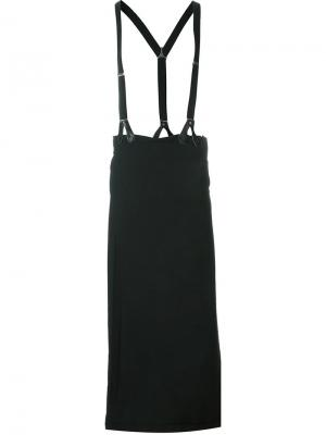 Брюки с подтяжками Jean Paul Gaultier Vintage. Цвет: чёрный