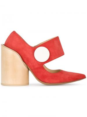 Туфли Chaussures Gros Bouton Jacquemus. Цвет: красный
