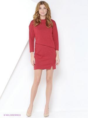 Платье TOPSANDTOPS. Цвет: красный