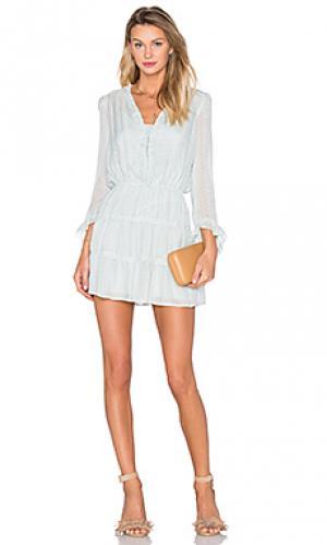 Мини платье с v-образным воротником и длинным рукавом Hoss Intropia. Цвет: мята