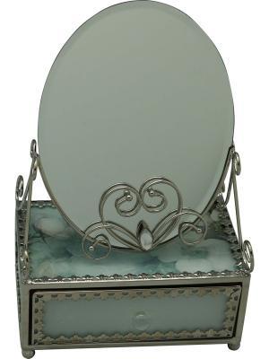 Зеркало со шкатулкой  Акварель JARDIN D'ETE. Цвет: зеленый