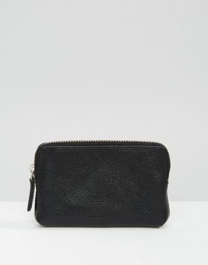Royal RepubliQ Кожаный кошелек для монет Fuze. Цвет: черный