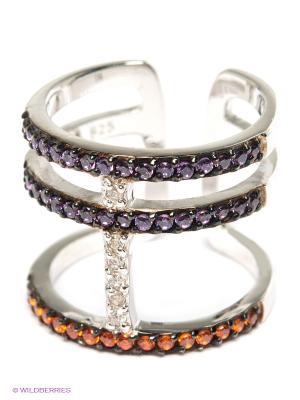 Фаланговое кольцо JV ДЖЕЙ ВИ. Цвет: серебристый, сиреневый