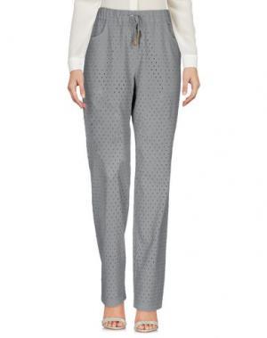 Повседневные брюки LA FABBRICA del LINO. Цвет: серый