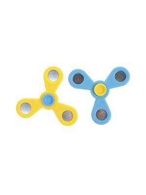 Комплект (Спиннер - 2 шт.) Happy Charms Family. Цвет: желтый, голубой, серебристый