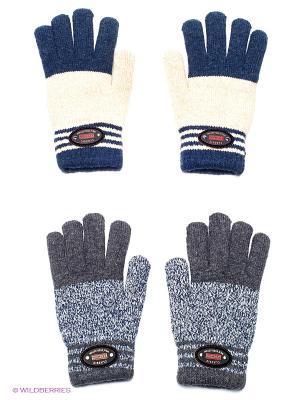 Перчатки (2 пары) FOMAS. Цвет: серый, серый меланж, молочный, синий