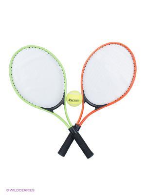 Набор для игры в теннис: 2 алюм.ракетки 52см,1 мяч, чехол, 6/24 Simba. Цвет: зеленый, оранжевый