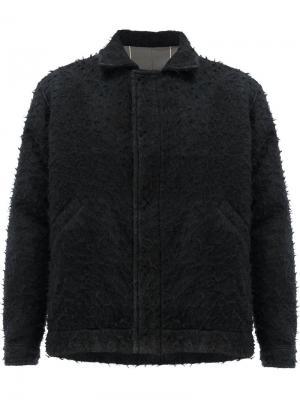 Пушистая куртка Uma Wang. Цвет: чёрный
