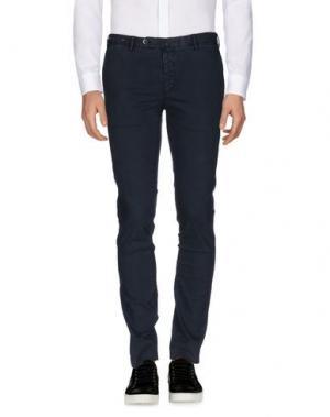 Повседневные брюки G.T.A. MANIFATTURA PANTALONI. Цвет: темно-синий