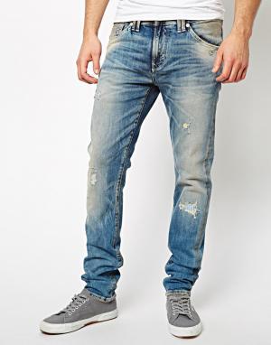 Рваные джинсы скинни  Buzz Pepe Heritage. Цвет: dirty wash
