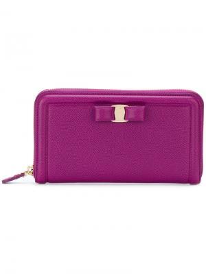Кошелек Vara Salvatore Ferragamo. Цвет: розовый и фиолетовый