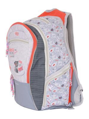 Рюкзак PROFF. Цвет: светло-серый, сиреневый