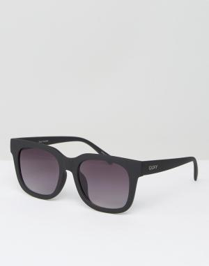 Quay Eyewear Черные квадратные солнцезащитные очки Australia. Цвет: черный