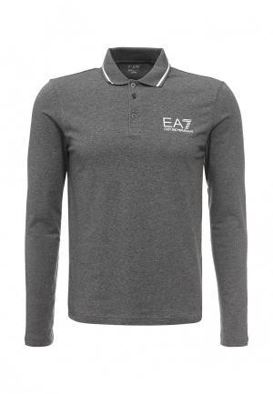 Поло EA7. Цвет: серый
