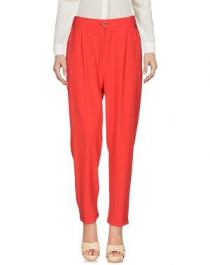 Повседневные брюки CAFèNOIR. Цвет: коралловый
