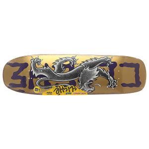 Дека для скейтборда лонгборда  S6 R7 Lyon By Dressen Violet 32 x 9 (22.9 см) Cliche. Цвет: желтый,фиолетовый
