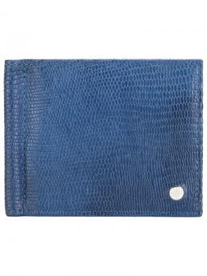 Классический бумажник Orciani. Цвет: синий