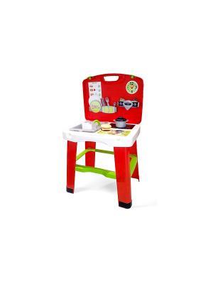 Кухня в чемоданчике, 43*35*76,5 см., 1/4 Smoby. Цвет: красный