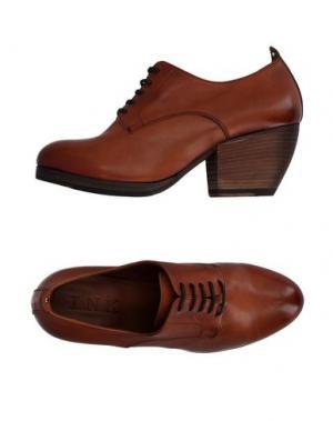 Обувь на шнурках INK. Цвет: коричневый