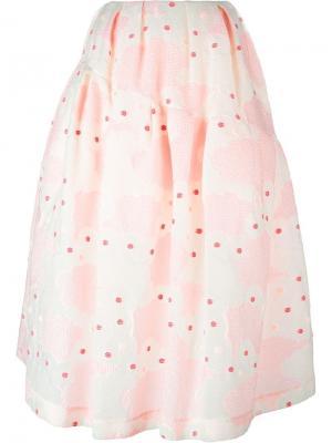 Жаккардовая пышная юбка Simone Rocha. Цвет: розовый и фиолетовый