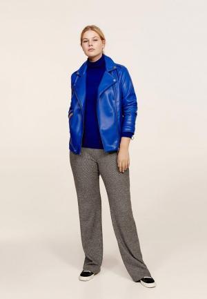 Куртка кожаная Violeta by Mango. Цвет: синий