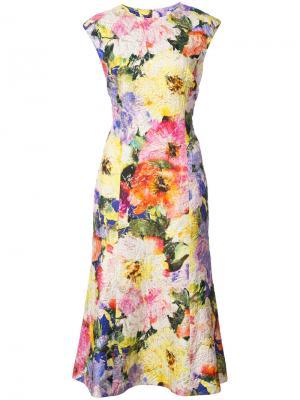 Платье с цветочным принтом Monique Lhuillier. Цвет: многоцветный