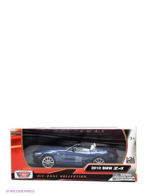 Машинка коллекционная 2010 BMW Z4 Roadster в масштабе 1к24 Motormax. Цвет: синий