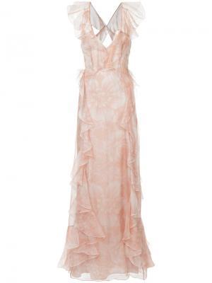 Платье Oh My Goddess Alice Mccall. Цвет: розовый и фиолетовый