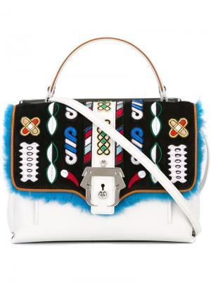 Маленькая сумка-тоут Faye Paula Cademartori. Цвет: белый
