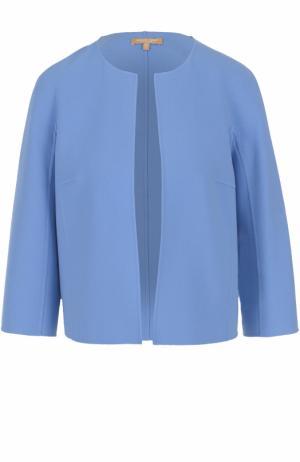 Жакет с круглым вырезом и укороченным рукавом Michael Kors. Цвет: голубой