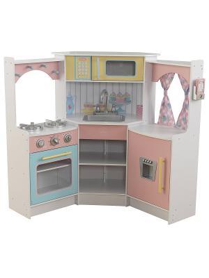 Игровая угловая кухня, цвет Делюкс KidKraft. Цвет: светло-голубой,розовый,белый