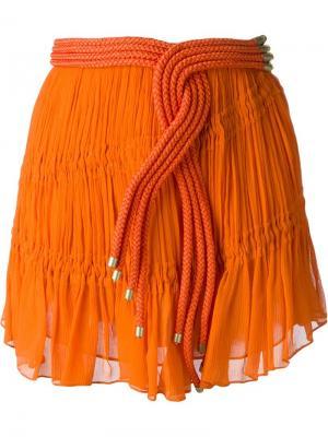 Юбка с веревочной отделкой Jay Ahr. Цвет: жёлтый и оранжевый