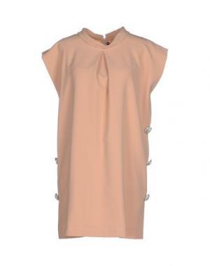 Короткое платье LA CAMICIA BIANCA. Цвет: песочный