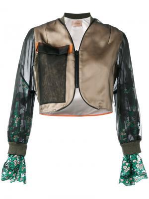 Укороченная куртка-бомбер Quetsche. Цвет: многоцветный