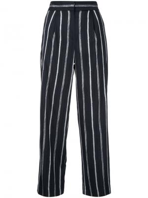 Stripe cropped trousers Tomorrowland. Цвет: синий