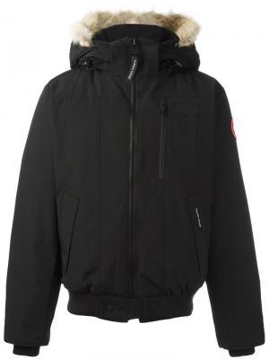 Куртка-бомбер со съемным капюшоном Canada Goose. Цвет: чёрный