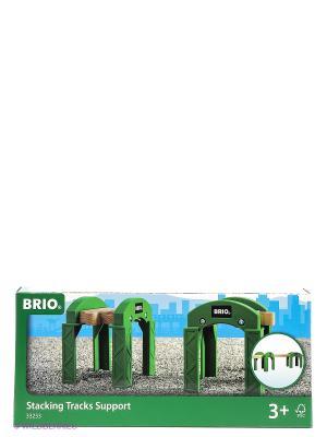 BRIO Опорные арки для строительства мостов, туннелей, ж/д, 2 элемента, 8х7,4х8,6см. Цвет: прозрачный