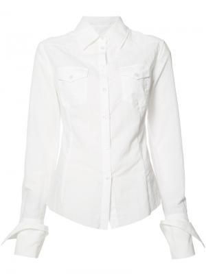 Рубашка с нагрудными карманами Marquesalmeida Marques'almeida. Цвет: белый