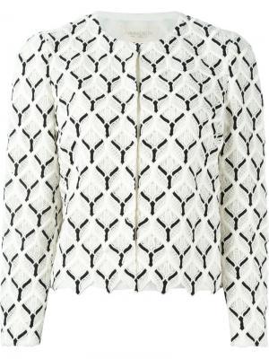 Пиджак с вышивкой Giambattista Valli. Цвет: белый