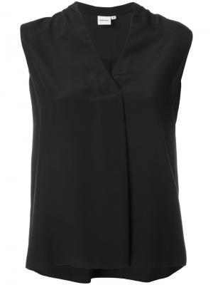 Блузка с V-образным вырезом Aspesi. Цвет: чёрный