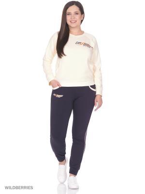 Костюм женский спортивный (джемпер, брюки) MARSOFINA. Цвет: персиковый, серый