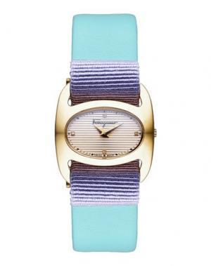 Наручные часы SALVATORE FERRAGAMO. Цвет: бирюзовый