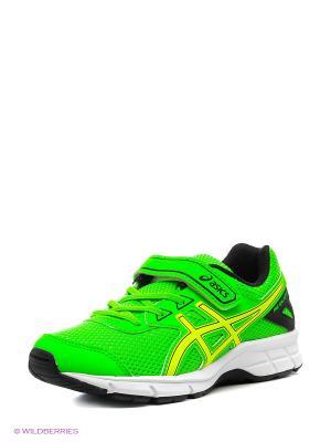 Спортивная обувь PRE GALAXY 9 PS ASICS. Цвет: зеленый, желтый, черный