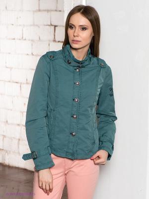 Куртка CONVER. Цвет: зеленый
