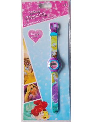 Часы наручные электронные Disney Princess (Принцесса). Цвет: светло-голубой, желтый, розовый